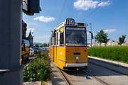 A historic Budapest electric tram