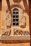 Bas Releif sculptures with scenes from the Bible on the outside of the 10th century Armenian Orthodox Cathedral of the Holy Cross on Akdamar Island, Lake Van Turkey 27 .<br /> <br /> If you prefer to buy from our ALAMY PHOTO LIBRARY  Collection visit : https://www.alamy.com/portfolio/paul-williams-funkystock/lakevanturkey.html<br /> <br /> Visit our TURKEY PHOTO COLLECTIONS for more photos to download or buy as wall art prints https://funkystock.photoshelter.com/gallery-collection/3f-Pictures-of-Turkey-Turkey-Photos-Images-Fotos/C0000U.hJWkZxAbg