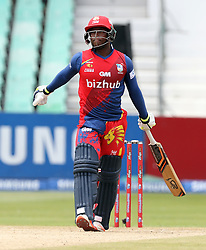 Mangaliso Mosehle (wk) of the Bizhub Highveld Lions during the T20 Challenge cricket match between the Lions and the Warriors at the Kingsmead stadium in Durban, KwaZulu Natal, South Africa on the 4th December 2016<br /> <br /> Photo by:   Steve Haag / Real Time Images