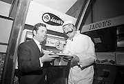 'Jim Figgerty', the man who put the figs in fig rolls, returns to Jacobs after a three-month absence and is mobbed by fans. Part of a hugely successful marketing campaign based on the question 'How do Jacobs get the figs in the fig roles?' Figgerty, and his sidekick, Habibi, (who asked the question in French) became part of the national consciousness..19.03.1969