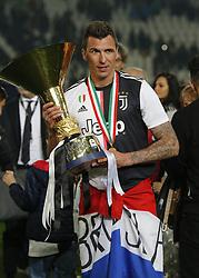 May 19, 2019 - Turin, ITA, Italy - Mario Mand?uki? during Serie A match between Juventus v Atalanta, in Turin, on May 19, 2019  (Credit Image: © Loris Roselli/NurPhoto via ZUMA Press)