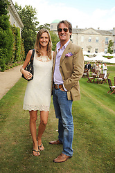 TIM & MALIN JEFFERIES at a luncheon hosted by Cartier for their sponsorship of the Style et Luxe part of the Goodwood Festival of Speed at Goodwood House, West Sussex on 4th July 2010.