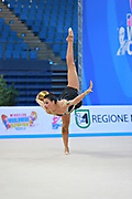 Castillo Galindo during qualifying at ball in Pesaro World Cup 10 April 2015.<br /> Galindo born 16 September, 1990 in Jalisco is a Mexican individual rhythmic gymnast.