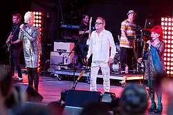 Concert at at the Pompano Beach. 01 Jul 2018 Pictured: Cindy Wilson, Fred Schneider, Kate Pierson. Photo credit: MPI04/Capital Pictures / MEGA TheMegaAgency.com +1 888 505 6342