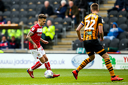 Jamie Paterson of Bristol City takes on Markus Henriksen of Hull City - Mandatory by-line: Robbie Stephenson/JMP - 05/05/2019 - FOOTBALL - KCOM Stadium - Hull, England - Hull City v Bristol City - Sky Bet Championship