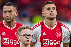 10-04-2019 NED: Champions League AFC Ajax - Juventus,  Amsterdam<br /> Round of 8, 1st leg / Ajax plays the first match 1-1 against Juventus during the UEFA Champions League first leg quarter-final football match / Hakim Ziyech #22 of Ajax, Dusan Tadic #10 of Ajax