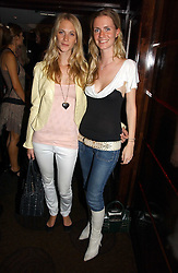 Left to right, sisters POPPY DELEVINGNE and CHLOE DELEVINGNE at a party to celebrate the 50th Anniversary of Gina Shoes held at The Bar, The Dorchester, Park Lane, London on 19th September 2006.<br />