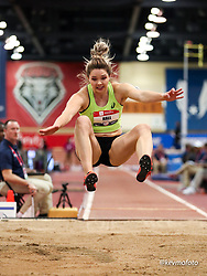2020 USATF Indoor Championship<br /> Albuquerque, NM 2020-02-15<br /> photo credit: © 2020 Kevin Morris<br /> women long jump, asics