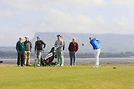 Ryan Griffin on the 12th tee during Round 4 of The West of Ireland Open Championship in Co. Sligo Golf Club, Rosses Point, Sligo on Sunday 7th April 2019.<br /> Picture:  Thos Caffrey / www.golffile.ie