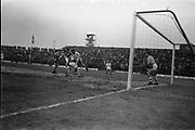 21 May 1967<br /> <br /> UEFA European Championship Group 1 - Ireland v Czechoslovakia at Dalymount Road, Dublin.<br /> <br /> 2-0 to Czechoslovakia.