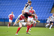 Bolton Wanderers midfielder Lloyd Isgrove (23) in action during the EFL Sky Bet League 2 match between Bolton Wanderers and Cheltenham Town at the University of  Bolton Stadium, Bolton, England on 16 January 2021.