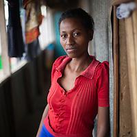 A young woman in Mukuru Kwa Njenga, Nairobi.
