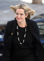 Home Secretary Amber Rudd attends a service to commemorate National Police Memorial Day at St Paul's Cathedral in central London.