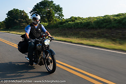 Mark Zenor riding his 1946 Norton Model 18 in the Cross Country Chase motorcycle endurance run from Sault Sainte Marie, MI to Key West, FL. (for vintage bikes from 1930-1948). Stage-7 covered 249 miles from Macon, GA to Tallahassee, FL USA. Thursday, September 12, 2019. Photography ©2019 Michael Lichter.
