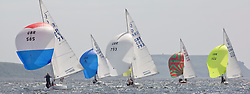 International Dragon Class Scottish Championships 2015.<br /> <br /> Day 1 racing in perfect conditions.<br /> <br /> Fleet, Downwind, GBR789, BEAR, Martin Payne, Salcombe YC\<br /> <br /> Credit Marc Turner