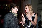 Poppy Jones; Lise Hoveson;, Opening of Eadweard Muybridge and Rachel Whiteread exhibitions. Tate Britain. Millbank. 6 September 2010. -DO NOT ARCHIVE-© Copyright Photograph by Dafydd Jones. 248 Clapham Rd. London SW9 0PZ. Tel 0207 820 0771. www.dafjones.com.