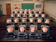 Virtual Classrooms are become more popular with schools whose students commute to their classes via their computer.