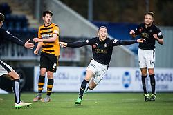 Falkirk's John Baird celebrates after scoring their third goal. <br /> Falkirk 5 v 0 Alloa Athletic, Scottish Championship game played at The Falkirk Stadium.