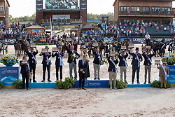 Team USA, Fairclough James, Wrigley-Miller Misdee, Weber Chester, Team NED, Chardon Bram, De Ronde Koos, Chardon IJsbrand, Team BEL, Degrieck Dries, Geerts Glenn, Simonet Edouard<br /> World Equestrian Games - Tryon 2018<br /> © Hippo Foto - Dirk Caremans<br /> 23/09/2018
