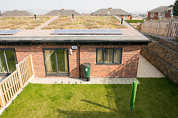 New build social housing with solar panels