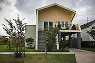 """May 25, 2015, New Orleans, LA, Home built in the Lower 9th Ward, that is part of the """"Make it Right"""" housing project run by Brad Pitt."""