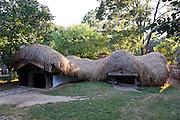 Half buried subterranian house Draghiceni, Olt. Built C19. Dimitrie Gusti National Village Museum (Muzeul Satului) in Bucharest, Romania