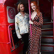 Robert and Victoria Clay attend Brigits Bakery host their Pink Ribbon Afternoon Tea in aid of the Pink Ribbon Foundation, London, UK. 16 October 2018.