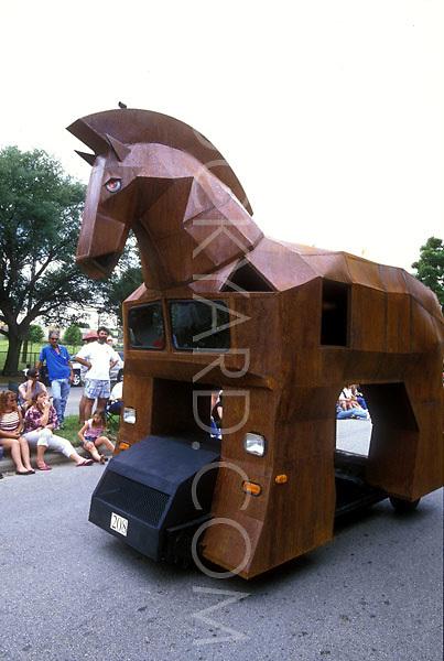 Stock photo of the Trojan horse car