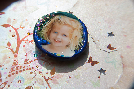 Custom photo jewelry grankid pin by Star Nigro