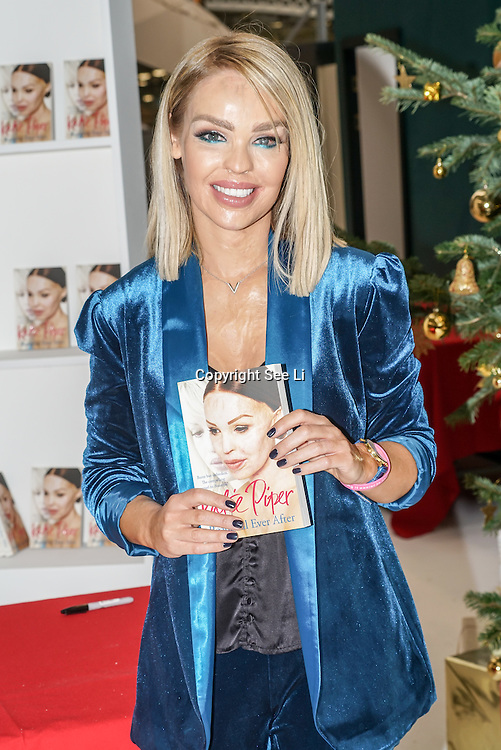 Glamorous TV presenter & inspiring author Katie Piper talks and book signing at Ideal Home Show at Christmas on 23rd November 2016 running from 23rd-27th November at Olympia, London,UK. Photo by See Li