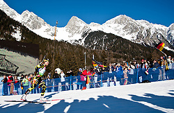 22.01.2011, Südtirol Arena, Antholz, ITA, IBU Biathlon Worldcup, Antholz, Relay Women, im Bild Anais Bescond (FRA) // Anais Bescond (FRA) during IBU Biathlon World Cup in Antholz, Italy, EXPA Pictures © 2011, PhotoCredit: EXPA/ J. Feichter