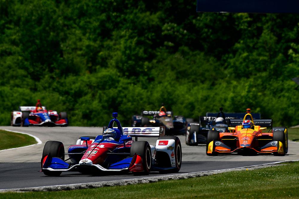 Tony Kanaan, A.J. Foyt Enterprises Chevrolet<br /> Sunday 24 June 2018<br /> KOHLER Grand Prix at Road America<br /> Verizon IndyCar Series<br /> Road America WI USA<br /> World Copyright: Scott R LePage
