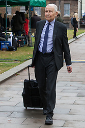"""London, UK. 25 September, 2019. Frank Field, Independent MP for Birkenhead, is interviewed on College Green on the day after the Supreme Court ruled that the Prime Minister's decision to suspend parliament was """"unlawful, void and of no effect"""". Credit: Mark Kerrison/Alamy Live News"""