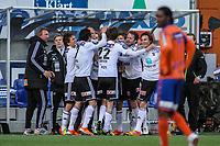 Fotball ,  15.04.2012 Tippeligaen , Eliteserien,  Aalesund v Odd <br />  , Odd jubler for scoring<br />  Foto: Kenneth Hjelle , Digitalsport