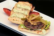 Hamburger in a Ciabatta roll