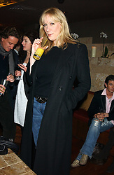 AMY SACCO owner of the famous Bungalow 8 club in New York at a party hosted by Daniella Helayel of fashion label ISSA held at Taman Gang, 141 Park Lane, London on 15th February 2006.<br />