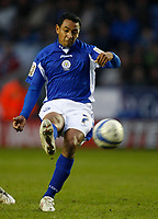 Photo: Steve Bond/Richard Lane Photography. Leicester City v Scunthorpe United. Coca Cola Championship. 13/02/2010. Norberto Solano goes close with a curling free kick