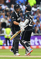 Cricket - 2019 ICC Cricket World Cup - Semi-Final: India vs. New Zealand<br /> <br /> New Zealand's Ross Taylor (left) congratulates Kane Williamson on his half century, at Old Trafford, Manchester.<br /> <br /> COLORSPORT/ASHLEY WESTERN