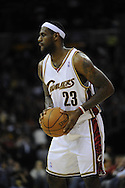LeBron James of Cleveland..The Miami Heat lost to the host Cleveland Cavaliers 84-76 at Quicken Loans Arena, April 13, 2008...