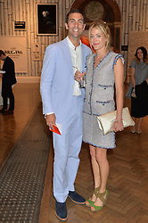 HUGH & ROSE VAN CUTSEM at the annual Royal Academy of Art Summer Party held at Burlington House, Piccadilly, London on 4th June 2014.