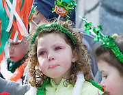 Not everyone was happy at the best  Galway St Patrick's Day Parade in years with a hugely international feel to it . photo:Andrew Downes. Photo:Andrew Downes