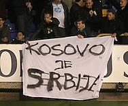 Fans unveil a Kosovo banner <br /> <br /> Europa League Group C- Tottenham vs Partizan Belgrade - White Hart Lane - England - 27th November 2014 - Picture David Klein/Sportimage