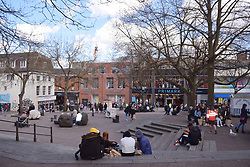 As England eases out of Coronavirus lockdown no 3, non-essential shops reopen on 12 April 2021, Norwich UK