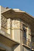 Art deco architectural detail with bas relief on Boulevard Mohammed V, Casablanca, Morocco