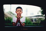 Street beggar boy bangkok thailand