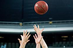Ball during basketball match between KK Union Olimpija Ljubljana and Bilbao Basket (ESP) in Round #9 of EuroCup 2015/16, on December 9, 2015 in Arena Stozice, Ljubljana, Slovenia. Photo by Vid Ponikvar / Sportida