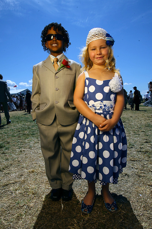 Flemmington, Emirates Stakes Day and Family Day at the races. Kids Fashions on the Field, Finalists Robson B. Deme 6ys  who won last year  and Kodi Buckley 6yrs who came second this year  parents are owners of Racehorse Miss Andretti   Pic By Craig Sillitoe  10/11/2007 melbourne photographers, commercial photographers, industrial photographers, corporate photographer, architectural photographers, This photograph can be used for non commercial uses with attribution. Credit: Craig Sillitoe Photography / http://www.csillitoe.com<br /> <br /> It is protected under the Creative Commons Attribution-NonCommercial-ShareAlike 4.0 International License. To view a copy of this license, visit http://creativecommons.org/licenses/by-nc-sa/4.0/.