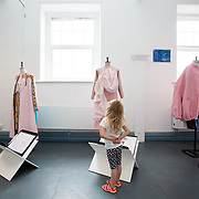 """03.06.2018.        <br /> An In-FLUX of visitors attended LSAD, Limerick School of Art and Design for one of Ireland's largest and most vibrant Graduate Shows.<br /> <br /> Checking out the Fashion Designs on display at the opening of the Flux exhibition was Alana Moynan, Killaloe Co. Clare.<br /> <br /> More than 200 Fine Art and Design students' work went on display from June 2 to June 10, 2018 at the LSAD Graduate Show - FLUX.<br /> LSAD has been central to Art, Craft and Design in the Limerick and Midwest region since 1852.<br />  <br /> The concept, branding and overall design of the 2018 LSAD Graduate Show - FLUX – is student led, and begins this Saturday June 2 and runs until June 10, 2018.<br />  <br /> FLUX encapsulates the movement and change from student to graduate. """"The """"X"""" in """"FLUX"""" represents the students and how they have made their mark in their time at college,"""" explains designers Cathy Hogan and Will Harte as they outline the thinking behind the concept.<br />  <br /> FLUX describes the dynamic movement in the Limerick city region as it overcomes significant issues to become a fulcrum of rejuvenation, vibrant culture, strong industry growth and a centre of design.<br />  <br /> LSAD is also in a state of FLUX as it develops its enterprise potential and engagement with stakeholders across industry, public bodies, third level institutions and other partners overseeing a shift towards design, creativity and connectivity that goes far beyond the walls of its main campus on Clare Street. Picture: Alan Place"""