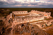 MEXICO, MAYAN, YUCATAN Uxmal, the Nunnery Quadrangle
