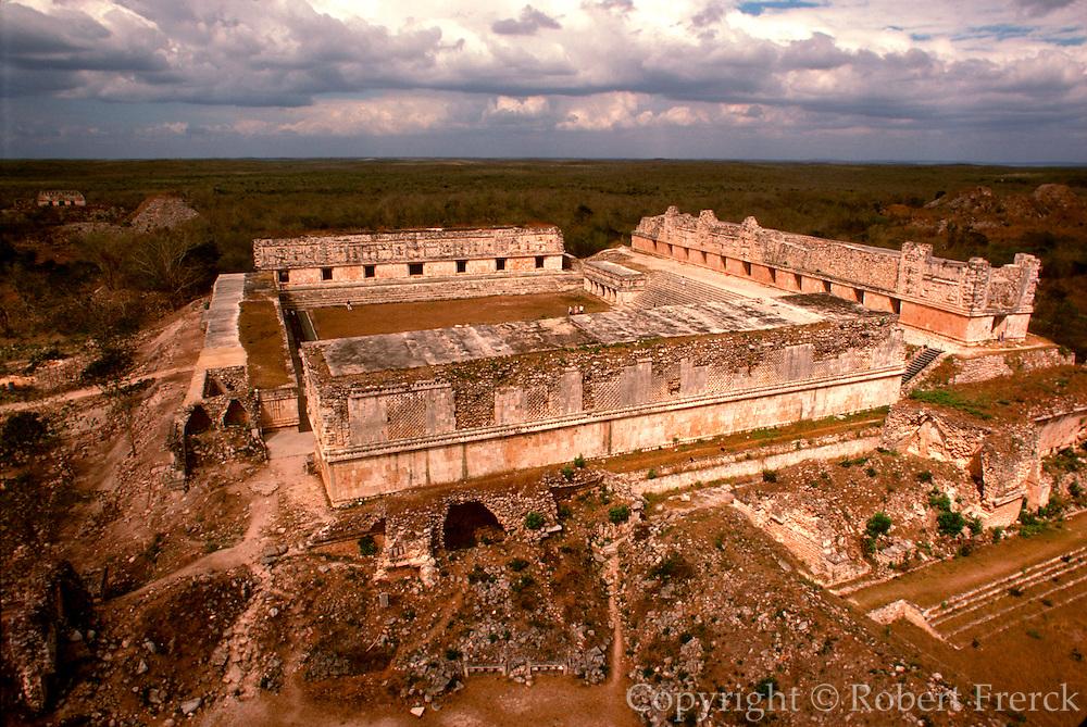 MEXICO, MAYAN, YUCATAN Uxmal, the Nunnery Quadrangle